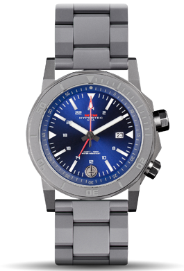 H-61 Grey-Blue Dial-Stainless Steel Band