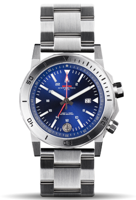 H-61 Silver-Blue Dial-Stainless SteelBand